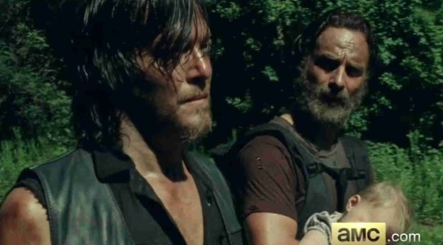 the walking dead - daryl and rick