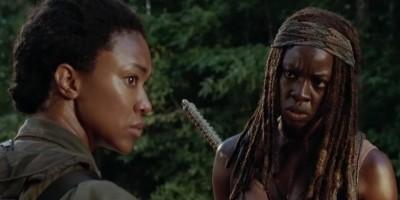 walking-dead-sasha and michonne