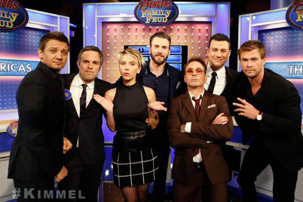 Avengers-Cast-on-Jimmel-Kimmel-Live