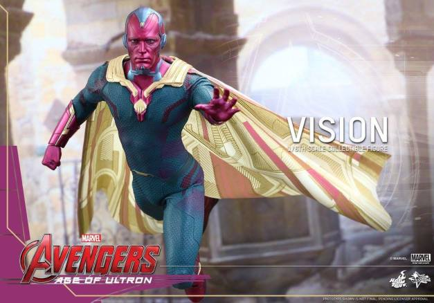 Hot Toys Avengers - Age of Ultron - Vision - soaring