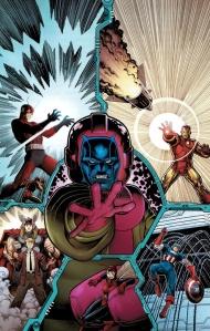 Kang vs The Avengers Art Adams