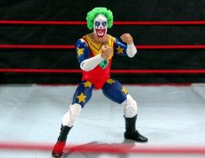 Doink the Clown WWE Mattel figure review - trademark pose