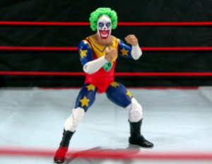 Doink the Clown WWE Mattel figure review - trademark pose