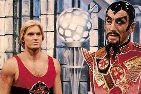 Flash Gordon and Ming the Merciless in Hawk City movie