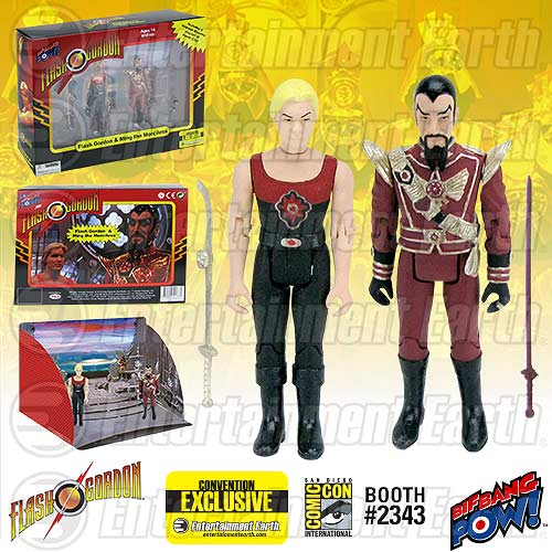 Flash Gordon and Ming the Merciless in Hawk City SDCC