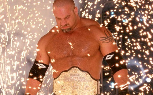 goldberg coming through the pyro