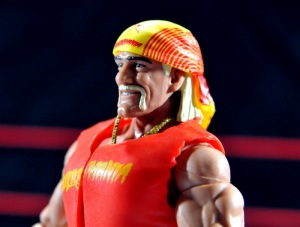 Hulk Hogan Hall of Fame figure - close up figure profile