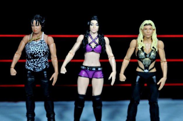 Paige WWE Mattel figure -scale with Vicki Gurerro and Beth Phoenix