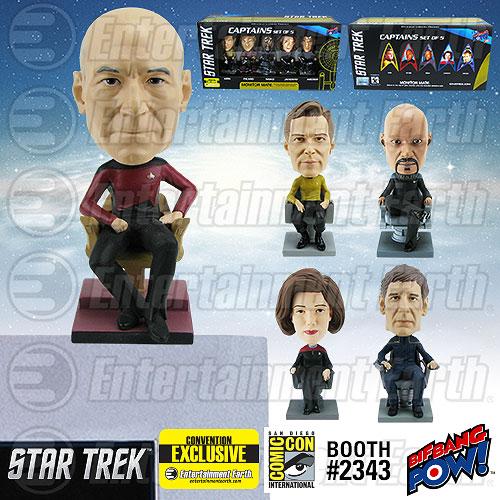 Star Trek Captains Bobble Heads
