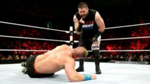 WWE Elimination Chamber 2015 - Owens taunts John Cena