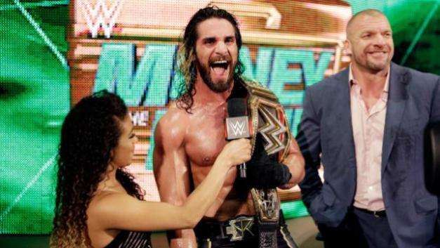 WWE Money in the Bank 2015 - Jojo, Seth and Triple H