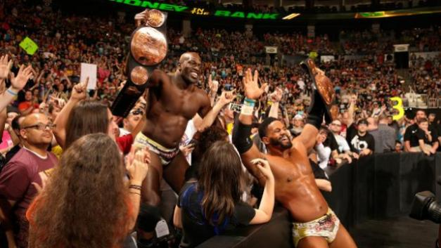 WWE Money in the Bank 2015 - Prime Time Players with tag titles