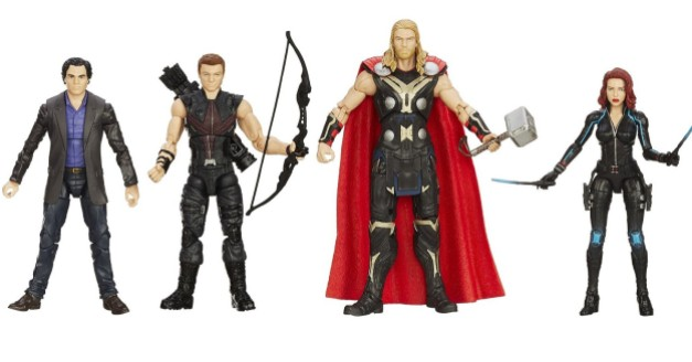 Avengers Age of Ultron Marvel Legends - Bruce Banner, Hawkeye, Thor and Black Widow