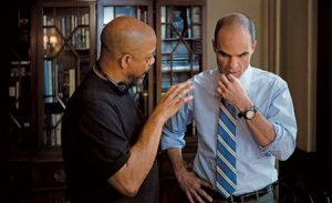 Carl Franklin and Michael Kelly House of Cards