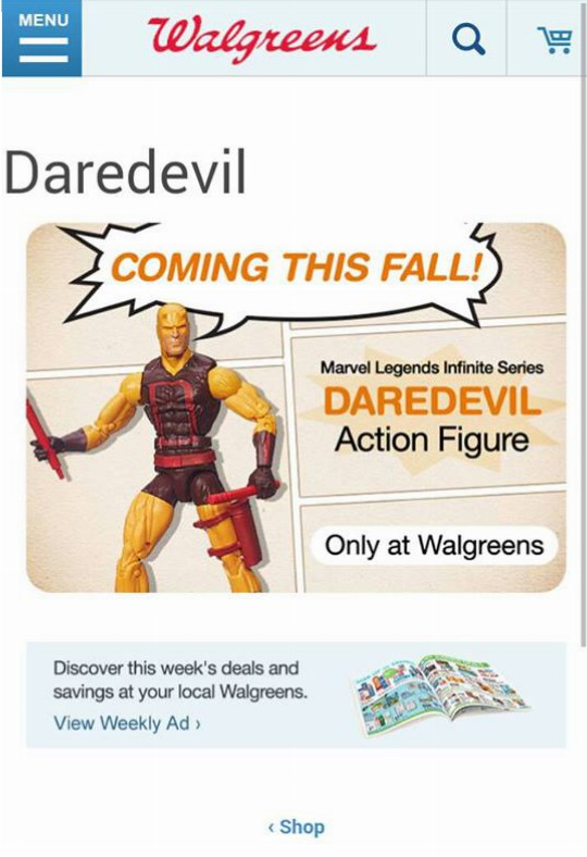 Daredevil 1st appearance figure