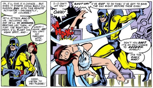 Hank Pym slapping Jan