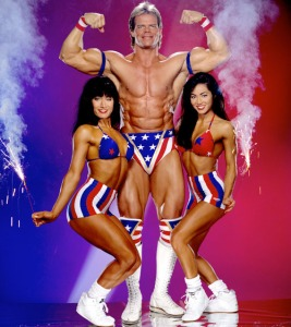 Lex Luger Made in the USA with chicks