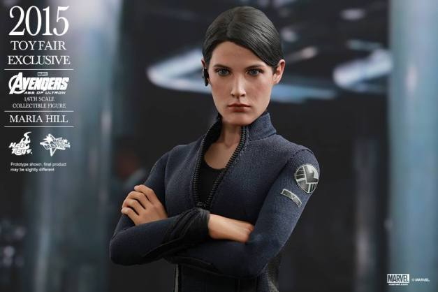 Maria Hill Avengers Age of Ultron Hot Toys figure -arms folded