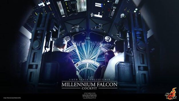 Millennium Falcon cockpit Hot Toys