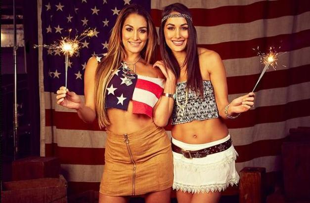 Nikki and Brie Bella, Bella Twins WWE Fourth of July