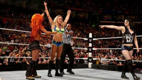 WWE Battleground - Becky Lynch, Charlotte and Paige