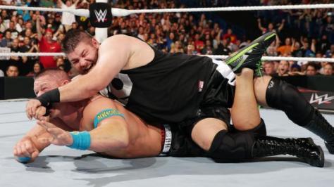 WWE Battleground - Kevin Owens hits STF on John Cena