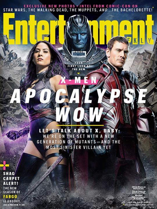 X-Men Apocalypse - Psylocke, Apocalypse and Magneto