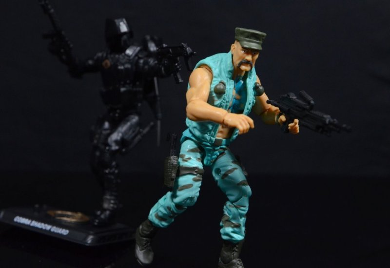 GI Joe Gung-Ho vs Cobra Shadow Guard -CSG stalking Gung-Ho