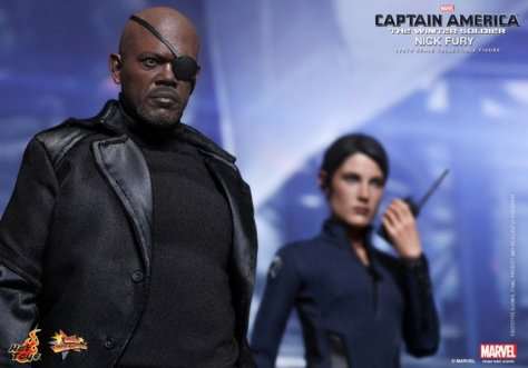 Hot Toys Captain America Winter Solider Nick Fury figure -main pic with Maria Hill