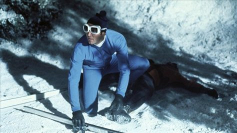 On Her Majesty's Secret Service - Bond skiing