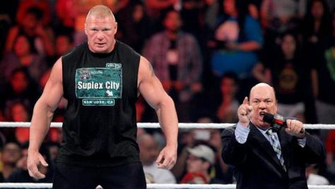 Paul Heyman and Brock Lesnar