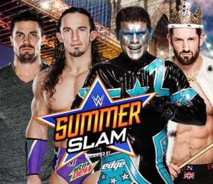 Summerslam 2015 - Amell and Neville vs Stardust and Barrett