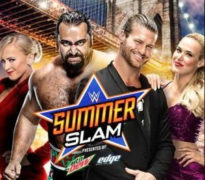 Summerslam 2015 - Rusev and Summer vs Ziggler and Lana