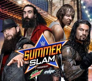 Summerslam 2015 - Wyatt and Harper vs Reigns and Ambrose