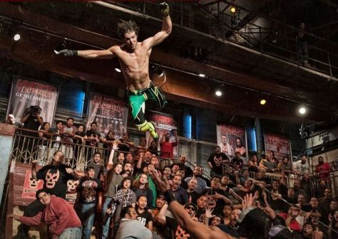 Ultima Lucha - Angelico dives on Disciples of Death