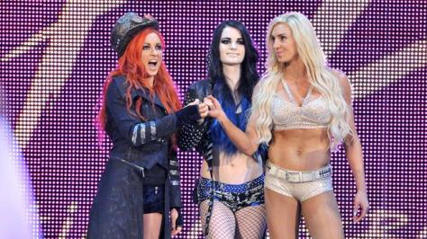 WWE Summerslam 2015 -Paige, Becky Lynch, Charlotte