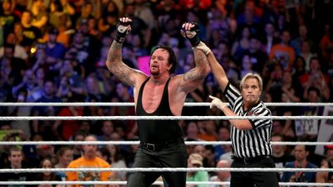 WWE Summerslam 2015 - Undertaker victorious