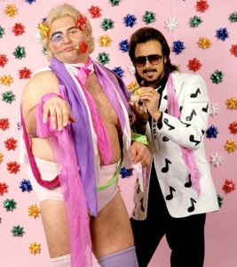 WWF Adrian Adonis and Jimmy Hart