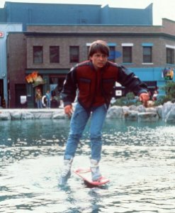 Back to the Future II - Michael J Fox as Marty McFly on hover board