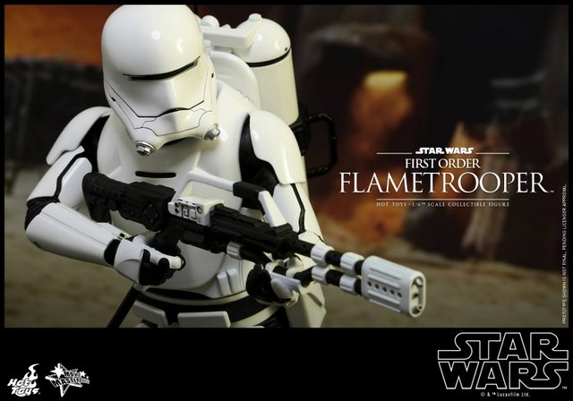 Hot Toys Star Wars Force Awakens First Order Flametrooper is fire!