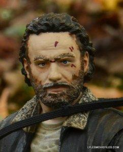 McFarlane Toys Walking Dead Rick Grimes Series 8 -Rick head sculpt closeup