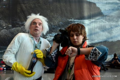 New York Comic Con 2015 cosplay - Back to the Future Doc Brown and Marty McFly