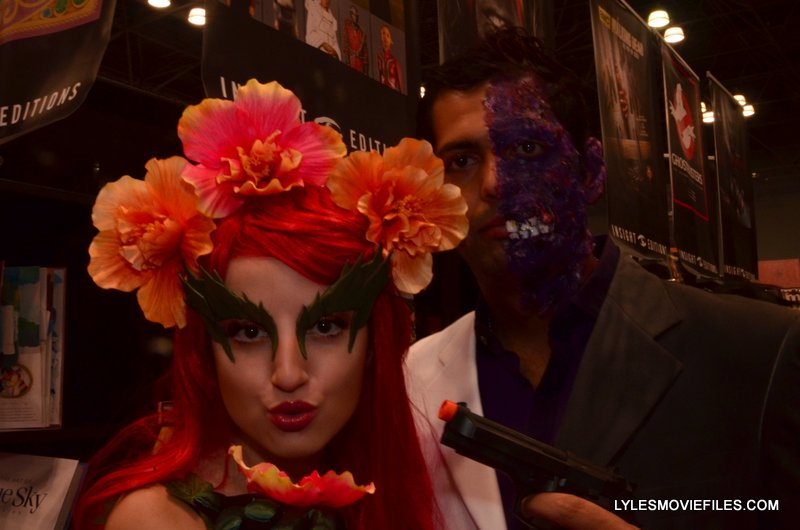 New York Comic Con 2015 cosplay -Batman & Robin Poison Ivy and Two Face