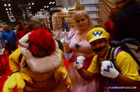 New York Comic Con 2015 cosplay - Bowser, Princess Toadstool and Wario
