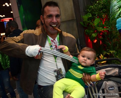 New York Comic Con 2015 cosplay - Logan and Baby Phoenix
