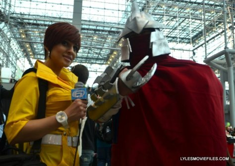 New York Comic Con 2015 cosplay - Mika Manx as April O'Neil and Shredder