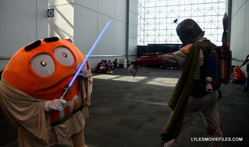 New York Comic Con 2015 cosplay - M&M Luke vs Boba Fett