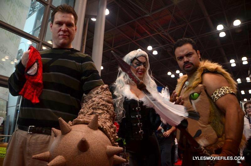 New York Comic Con 2015 cosplay - Sandman, Black Cat and Kraven