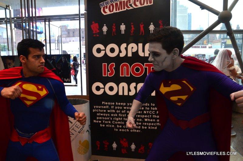 New York Comic Con 2015 cosplay - Superman and Bizarro