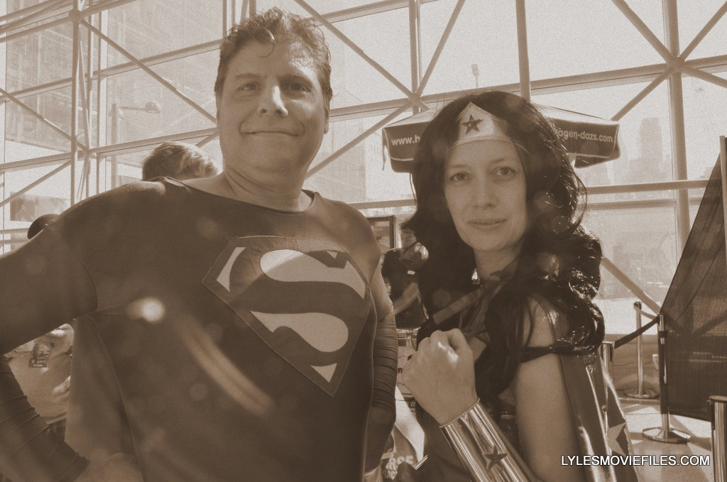 New York Comic Con cosplay - vintage Superman and Wonder Woman